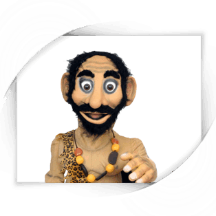 Caveman puppet