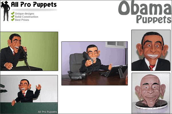 Obama & Hugh Laurie Custom Puppet