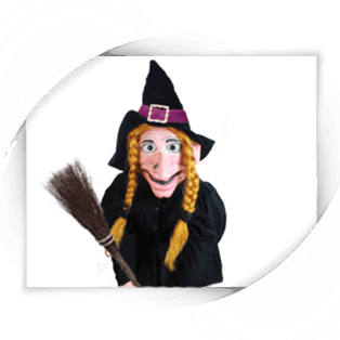 BroomBroom the witch puppet